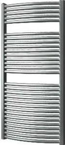 Plieger Onda designradiator horizontaal gebogen 1196x585mm 804W donker grijs structuur