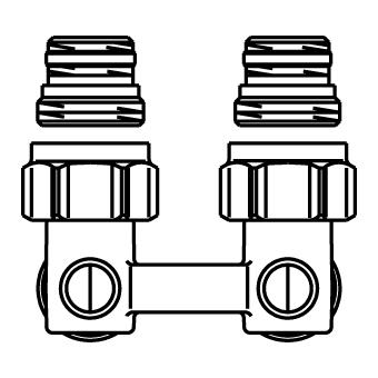 Oventrop Multiflex H-onderblok F haaks 1/2