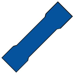 Klemko aderdoorverbinder rond/vlak huls A, koper/messing