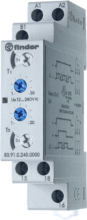 Finder 80.91.0.240.0000 Tijdrelais 12 240 V DC-AC 1 wisselcontact 16 A 400 V-AC (AC1) max. 4000 VA,