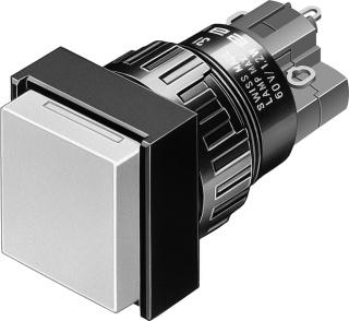 EAO drukknop 31, di 29mm, 1 commandoposities, knop z/toetsenplaat