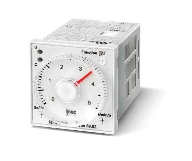 Tijdrelais Finder 88.02.0.230.0002 24-230 V DC-AC 2 wisselcontacten 8 A max. 250 V~ (AC1) max. 2000