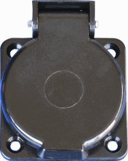 Hateha wandcontactdoos ID J16 kunststof, zwart, uitvoering ra, 1 eenheid