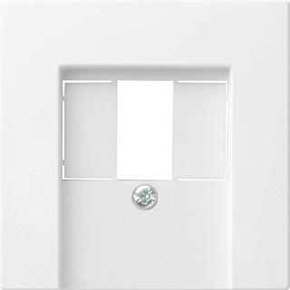 Gira System 55 outlet-component kunststof, wit, basis element met centr a, TAE
