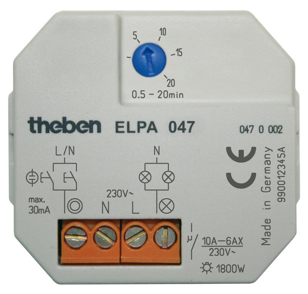 Theben traph schakelaar, grijs, inbouw, 253-187V, spanningstype AC