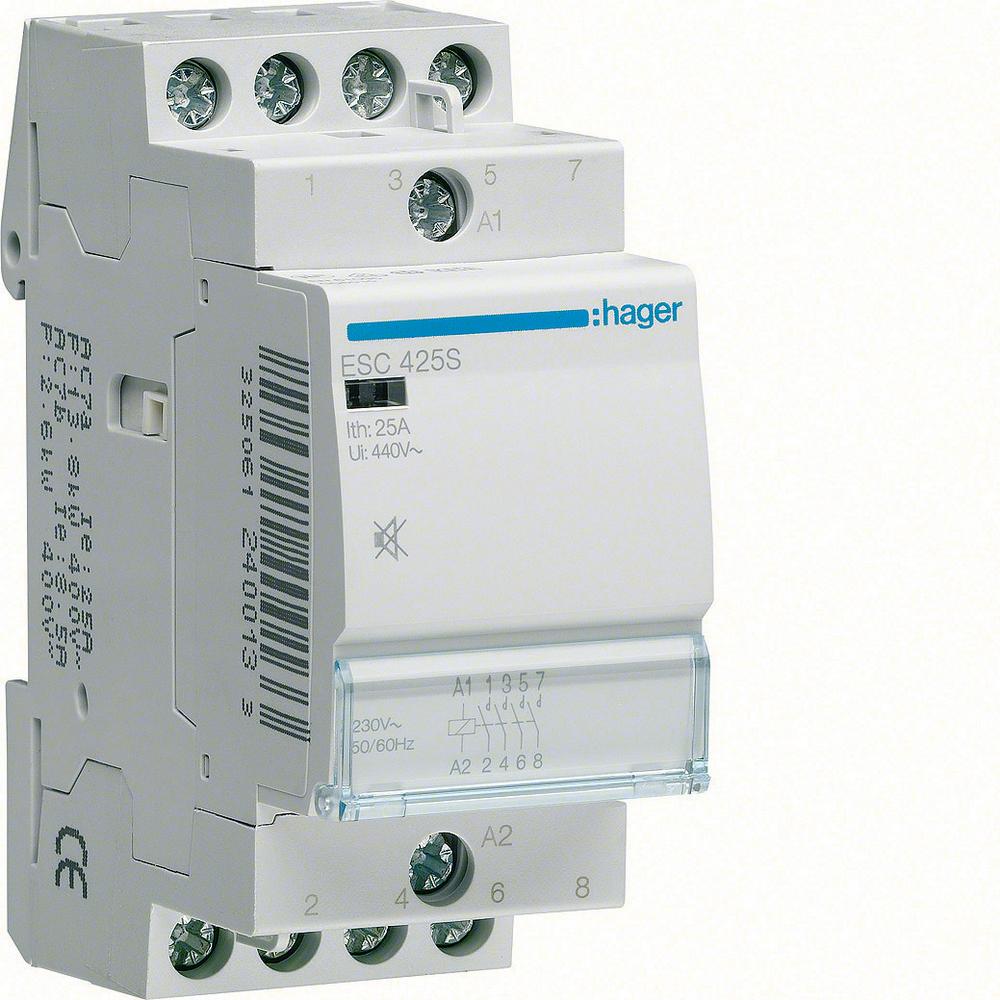 Hager magneetschakelaar nom. Us bij AC 50Hz 230V, nom. Us bij AC 60Hz 230V