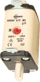 Hager smeltp (mes) Weber.fuses, DIN-grootte NH000, nom. (meet)str 100A