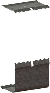 Legrand koppel voor wndg GWO-6, staal, natuurkleur, voor wandgootbreedte 170mm