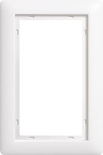 Gira Standaard 55 1,5-voudig kunststof afdekraam H+V, mat, wit