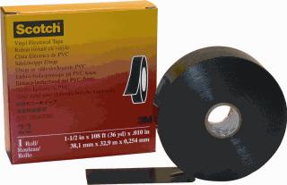 3M Scotch zelfklevende tape T22, PVC, zwart, (lxb) 33mx38mm, UV-bestendig, isol