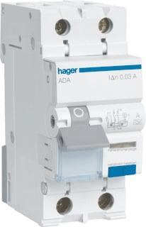 Hager HACO 16A C ADA966G inclusief aardlekschakelaar