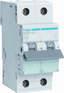 Hager installatieautomaat 1 MCN C-Karakteristiek 1P en N, meeschakelende nul