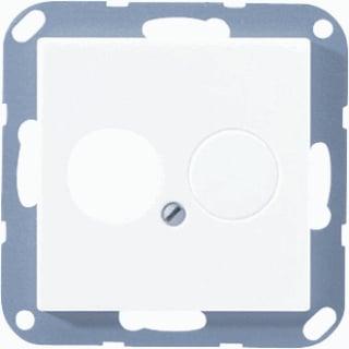 JUNG outlet-component AS500 kunststof, wit, basis element met centr a