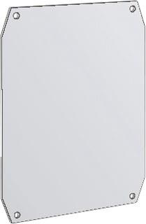 Eldon mont pl voor kast/lessenaar Uniplast UMPZ, staal, (hxb) 600x400mm
