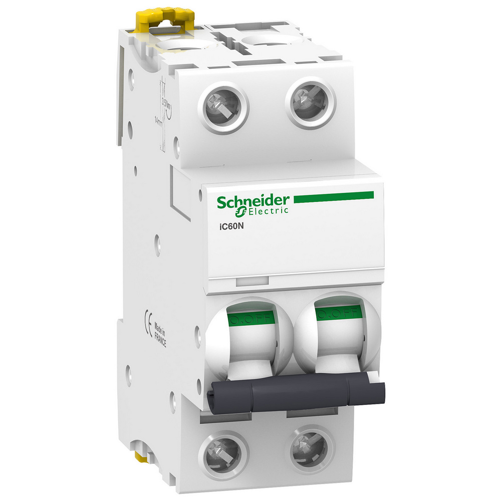 Schneider Electric IC60N stuurtstroomautomaat 2P, 2 polen, kar C, 25A, 400V