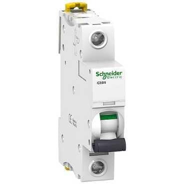 Schneider Electric IC60N stuurtstroomautomaat 1P+N, 1 polen, kar B, 20A, 230V
