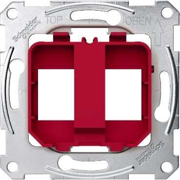 Schneider Electric Merten M-Plan draagframe, 2-voudig, modular-Jack, RAL9020 rood MTN4566-0006