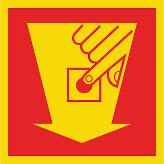 Pikt-O-Norm veil pictogr, fotoluminiscerend, rood, (hxb) 20x20cm