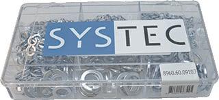 Systec veerring verz, staal verzinkt, 1069, A VEERRING M3 250 stuks