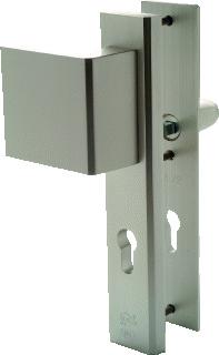 NEME deurbeslag (set) 3419, alu, (lxb) 245x50mm