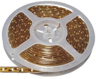 Led strip 24Volt IP-68 warm Wit 4,8W-m 5M Klemko