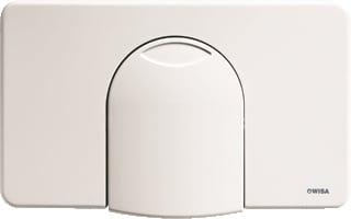 Wisa bedieningspaneel closet/urinoir 2100, kunststof perg, (lxb) 309x184mm