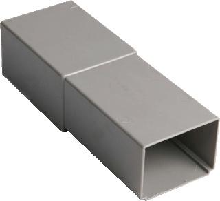 Wavin HWA fitt -buis, PVC, grijs, 70x80mm