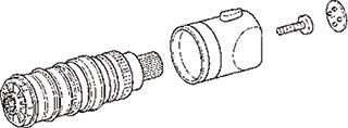 Hansa bedieningselement sanitair kraan, messing, chroom, uitvoering kraangreep