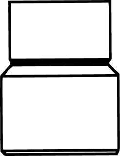 Pipelife fitt hwa-buis, PVC, grijs, 70x75mm, uitvoering verloopstuk, hwa