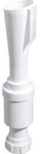 Walraven trechtersifon, PP (pp), wit, 32mm, inlaatcombinatie, uitvoering klemverbinding
