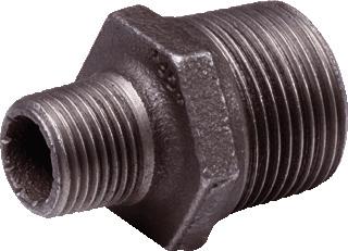 Nefit Industrial draadfitting met 2 aansluiting zw 245, gietijzer, nippel, model nr. 245