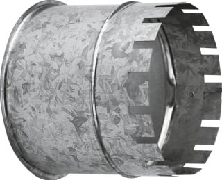 Burgerhout nisbus, staal, diam 150mm, gegalv