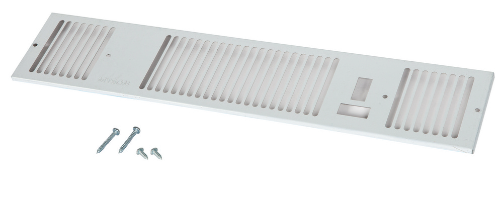 Remeha grille plintverwarmer Kickspace 600, RVS