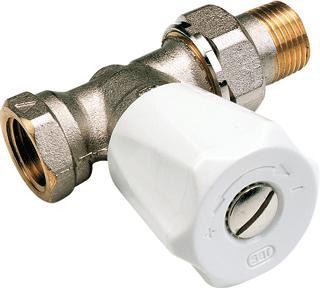 VSH radiator afsluiter Sar 409U, uitvoering staartstuk/binnendraad, recht