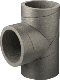 Ubbink wtw t-y-stuk T-stuk, kunststof, grijs, dik 15mm