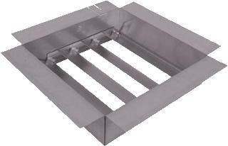 Itho Daalderop luchtterugslagklep dakventilator, staal sendz verz