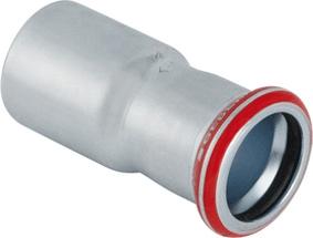 Geberit persfitting met 2 aansluiting C- Staal 223, staal, centrisch verloop