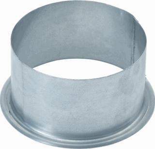 AIR Spiralo flensbus instortkanaal, staal, ho 85mm, nom. diam 125mm, verz