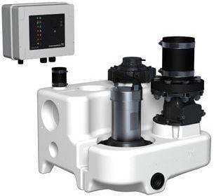 Grundfos MULTILIFT MSS vuilwaterpompunit, geschikt voor fecaliën, nom. debiet 19,8 m³ per uur