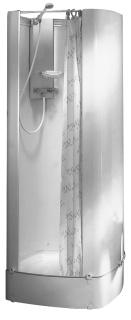 Intersan Isitub douchecabine, hoogte 1930mm vierkant, grootste breedte 775mm