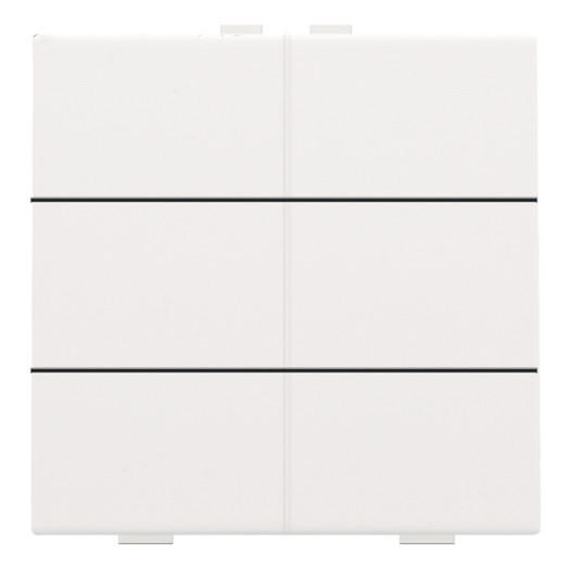Niko Pure zesvoudige drukknop voor Niko Home Control, wit