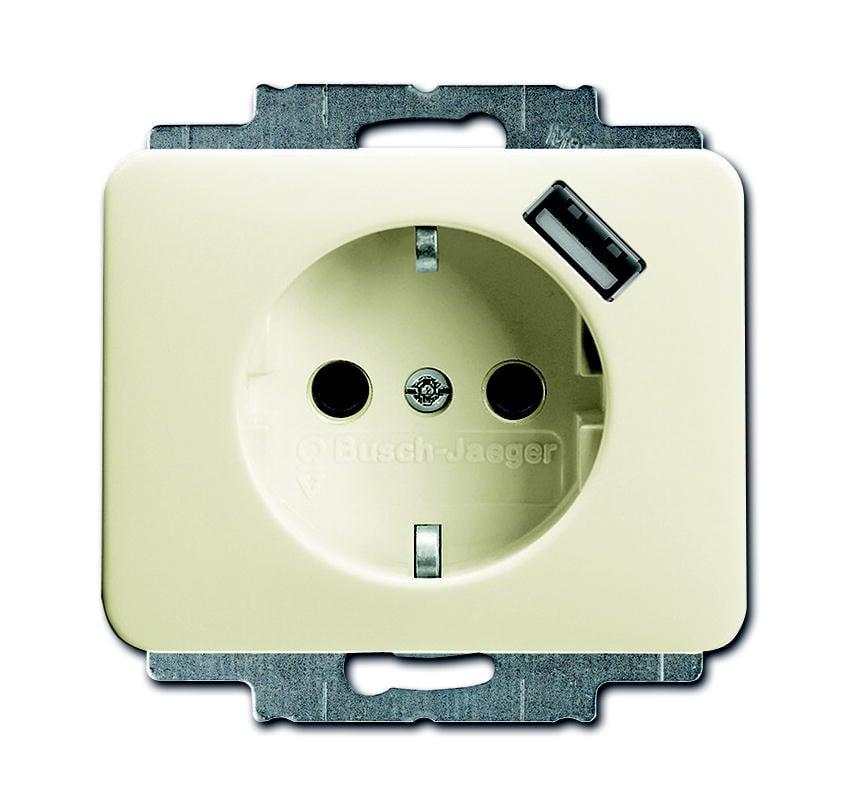 BJ stopcontact met usb lader Alpha Nea 2011-0-6169
