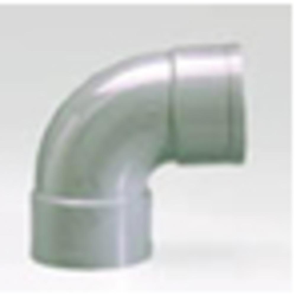 Sub PVC afvoerbocht 90° mof 11 cm, grijs
