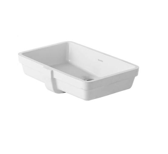 Productafbeelding van Duravit Vero inbouw wastafel 52,5x35,5 cm WonderGliss, wit
