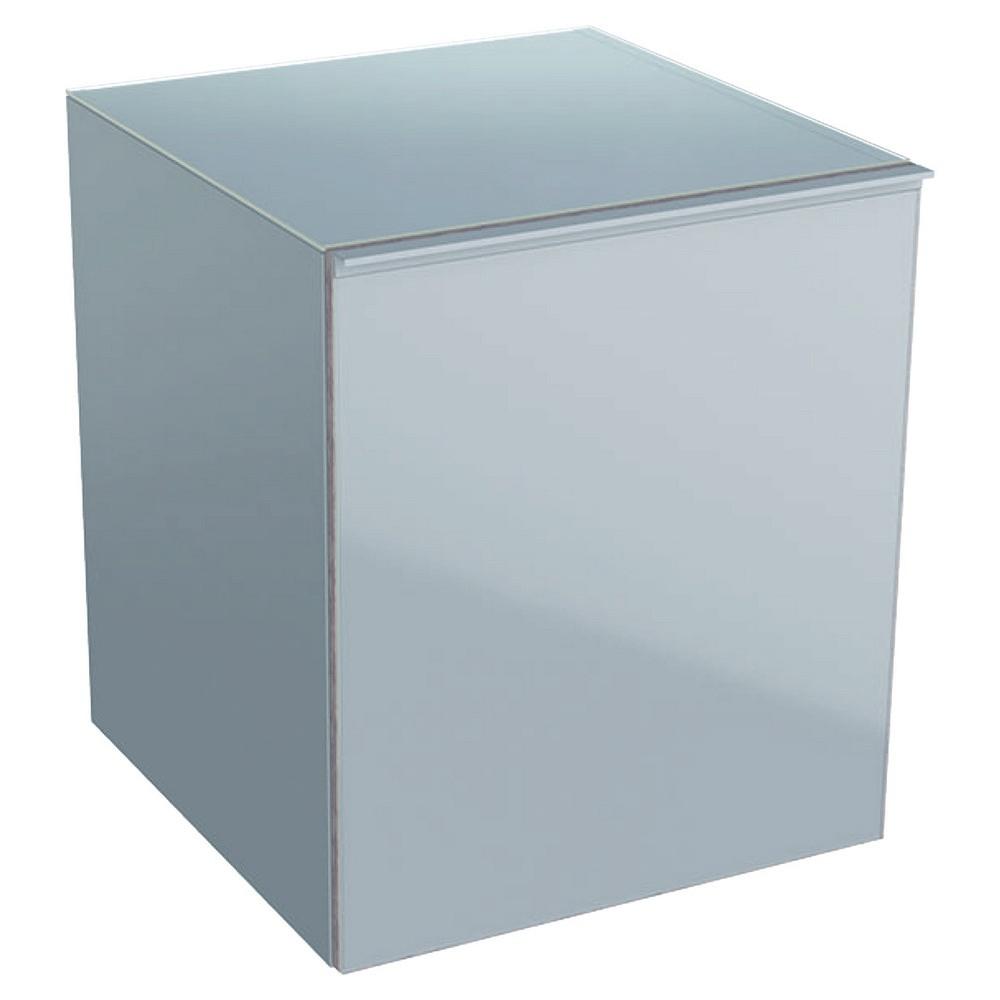 Geberit Acanto lage kast 45 cm 1 lade front glas, zandgrijs