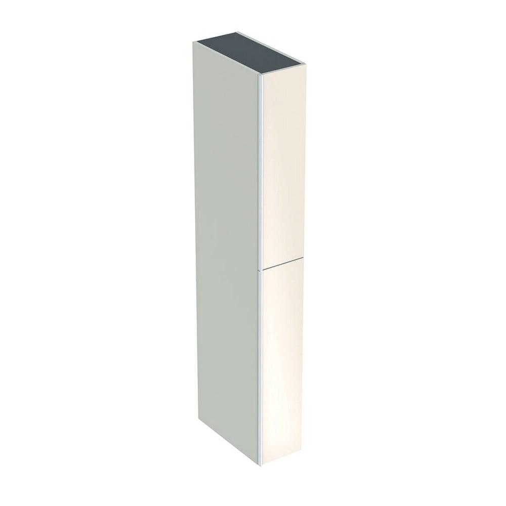 Geberit Acanto hoge kast 2 ladeboxen front glas 173 cm, zandgrijs