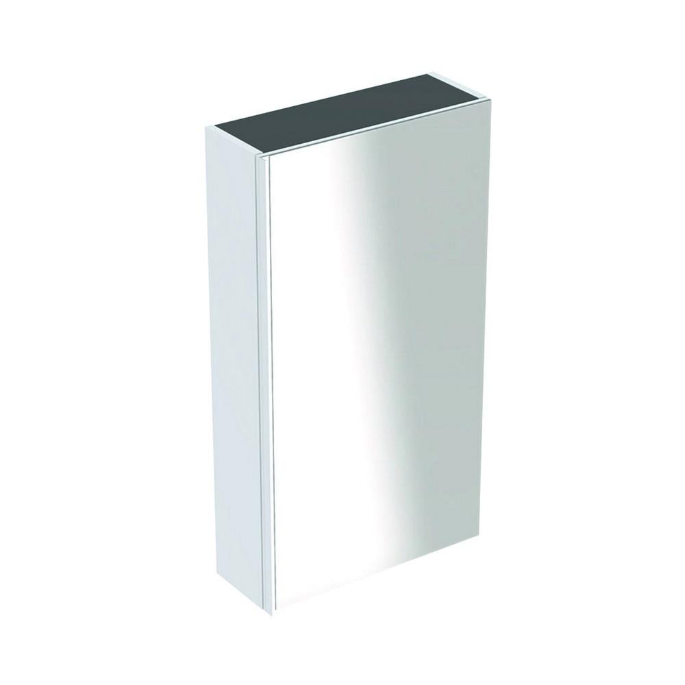 Geberit Acanto bovenkast 1 glasdeur 82x45 cm, glans wit
