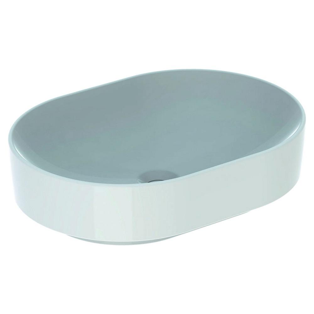 Geberit VariForm opzetwastafel ellips 55x40 cm zonder overloop, wit