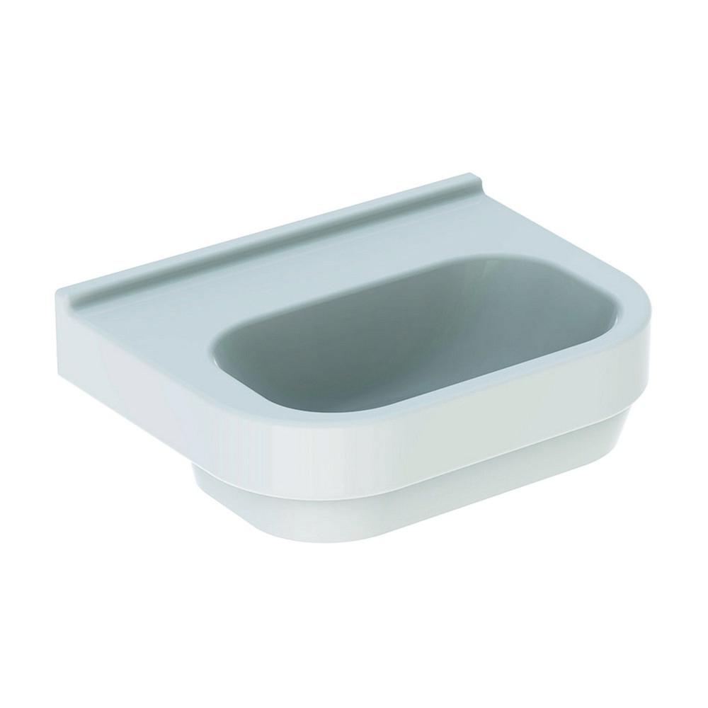 Geberit 300 basic wastafel 50 cm zonder kraangat zonder overloop, wit