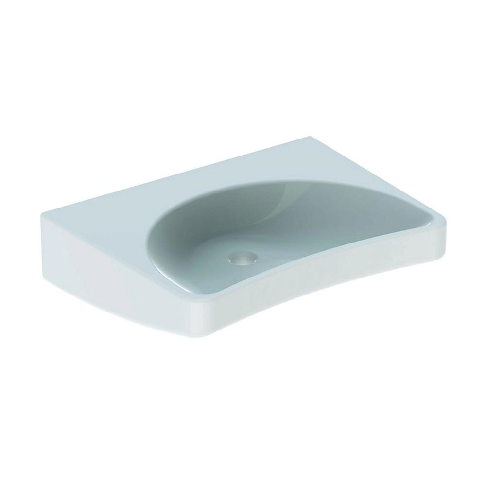 Geberit 300 comfort wastafel 64 cm zonder kraangat zonder overloop, wit